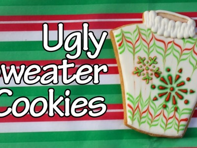 How to make ugly sweater cookie - Easy Holiday Cookies