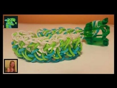 Knitted Dragon Scale AKA Love me Knot on Rainbow loom's Finger loom