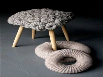Knitted Stools Design by Claire-Anne O'Brien
