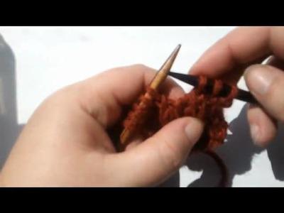 Knitting Tutorial - ssk decrease