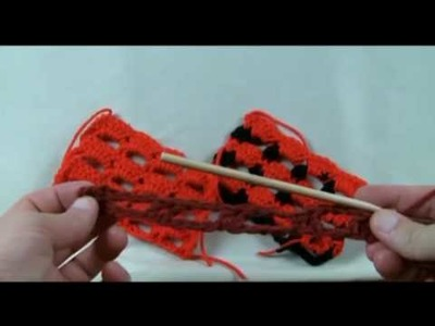 Left Hand: How To Crochet Boxed Block Stitch