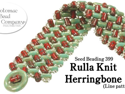 Make a Rulla Knit Herringbone Bracelet (Line Pattern)