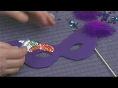 Making Foam Masks for Kid's Crafts : Adding Beading to a Mask