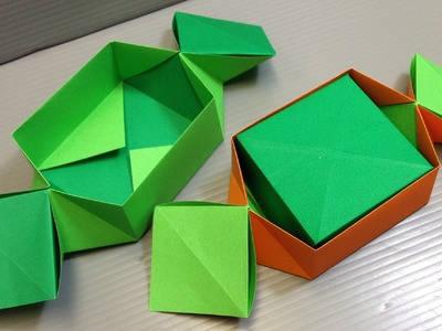 Origami Candy Shaped Box for Halloween!