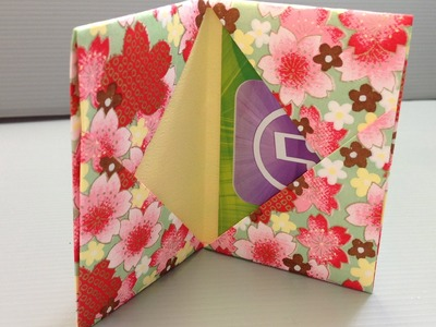 Origami Gift Card Holder for Back to School Shopping