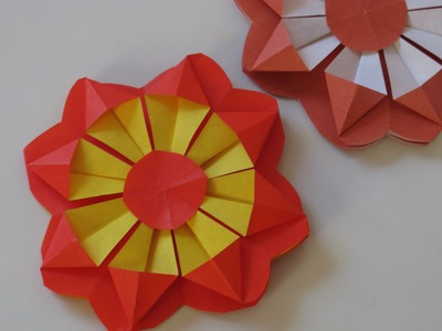 Origami - How to Make a Flower (decoration)