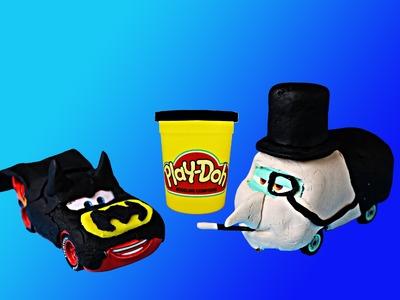 Play Doh Superheroes The Penguin Tutorial DIY Disney Cars Toy Super Villain Fillmore Batman
