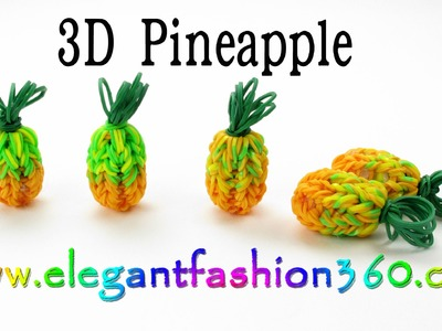 Rainbow Loom Pineapple 3D Charm - How to loom bands