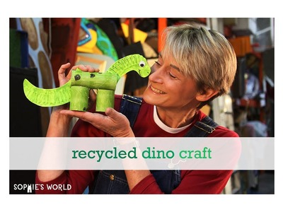 Recycled Dinosaur Craft|Sophie's World