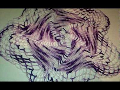 Swirly crochet doily - Handmade
