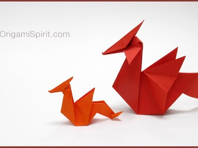 Tutorial -Origami Dragon : : Dragón de papel