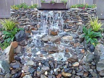 DIY Backyard Waterfall