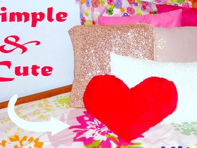 DIY ROOM DECOR ❤ No-sew heart pillow!