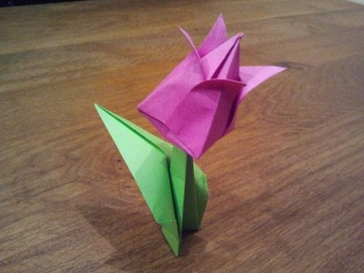 How To Make an Origami Tulip Flower