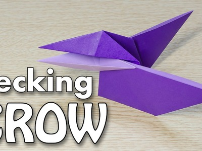 Pecking Crow Bird Origami : Moving Beak tutorial