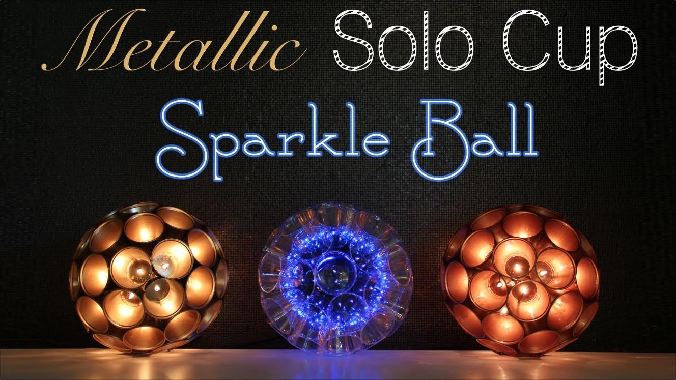 Solo Cup Metallic Sparkle Ball DIY