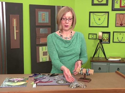 2001-3 Beads, Baubles & Jewels host Katie Hacker shows how to make coiled bead bracelets
