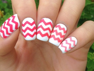 DIY Chevron Nails: 4 Ways! (a 5th way in the description)