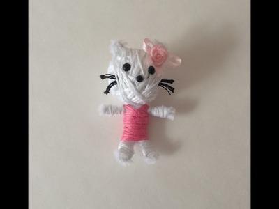 DIY Hello Kitty voodoo doll (Key Chain)