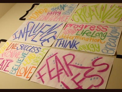 DIY Motivational Wall Posters