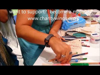 Donna Downey demos LIVE from CHA-Faber Castell Design Memory Craft Gelatos and Pitt Pens