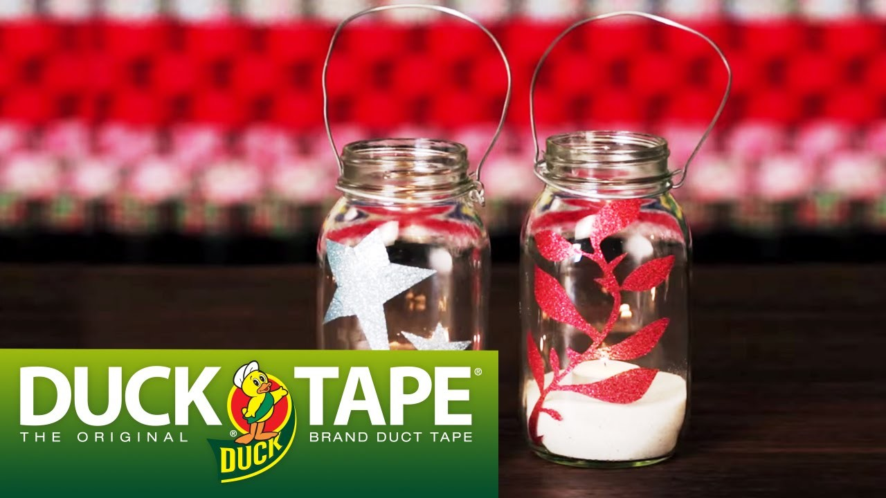 Duck Tape Craft Ideas: How to Make Glitter Jars