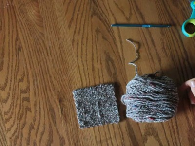 How-To Crochet a border on a Zoom Loom Square
