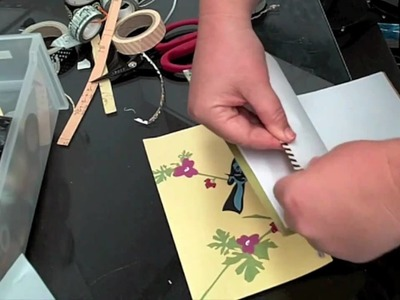 Make a Journal with cute scrapbook papers! - Jane Davenport