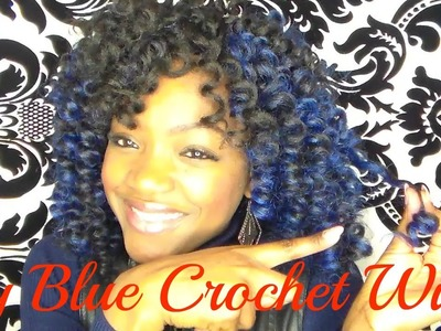 My Blue Crochet Wig With Kanekalon Hair