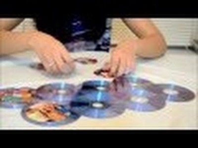 Recycled CD Mosaic Photo Frame
