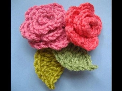 Very easy crochet rose flower