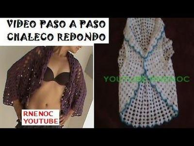 1 DE 8 COMO TEJER CHALECO REDONDO DAMA NIÑA GANCHILLO CROCHET