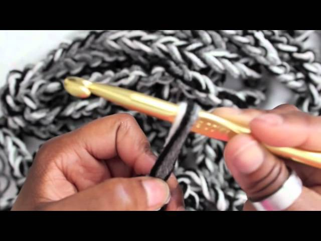 ✿ 139 ✿ Fall. Winter Fashion: How to Crochet a Rope Scarf