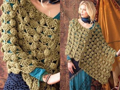 #40 Bulky Poncho, Vogue Knitting Crochet 2012