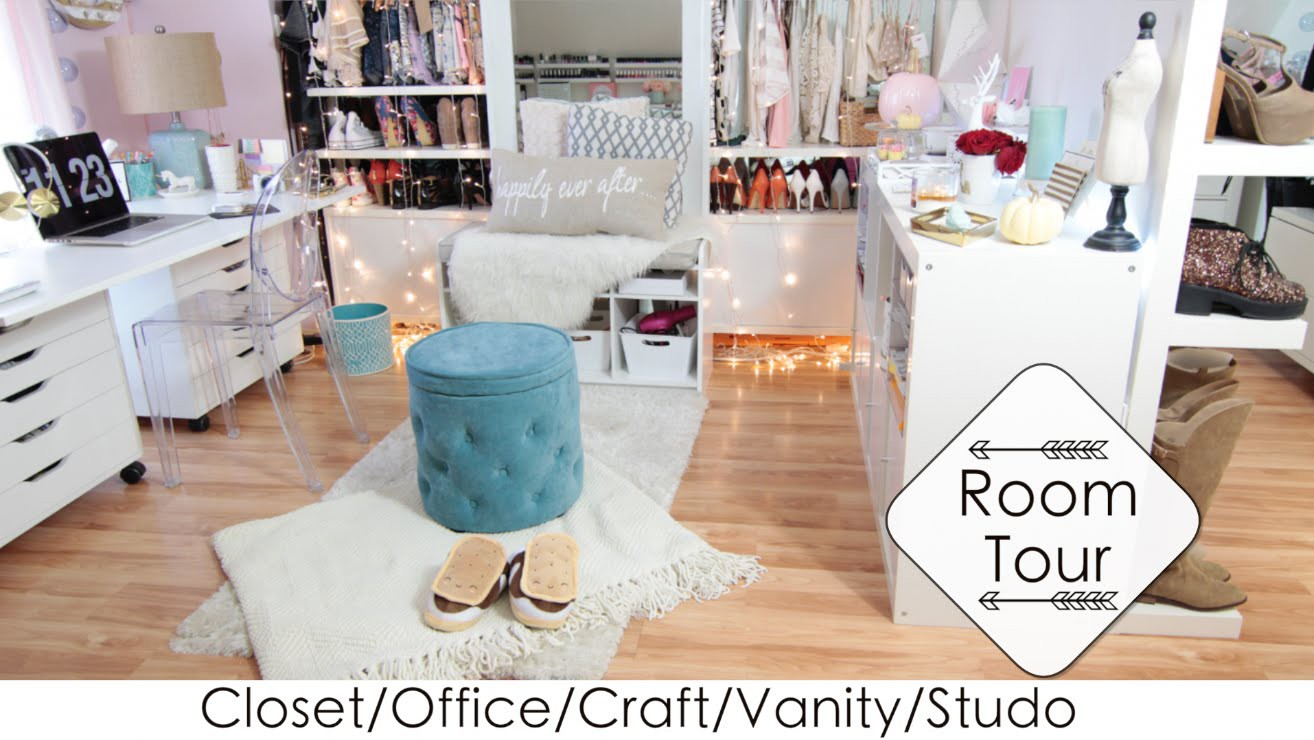 5 Into 1 Room Tour + DIYs Closet.Office.Vanity.Craft.Studio (LisaPullano)