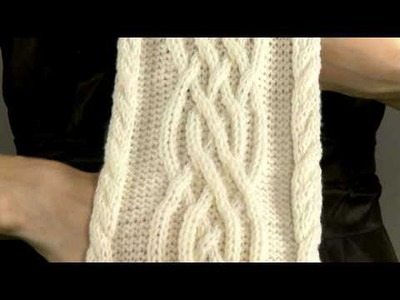 #8 Cabled Scarf, Vogue Knitting Holiday 2008