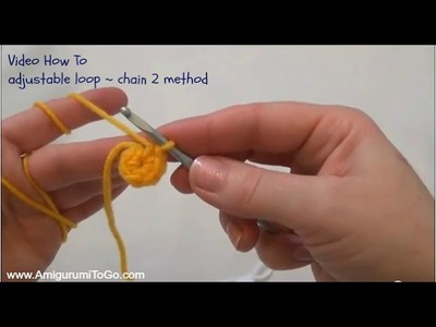 Adjustable loop chain 2 method Crochet 101