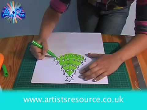 Arts & Craft Make a Christmas Card - Card Making Project - Art and Craft