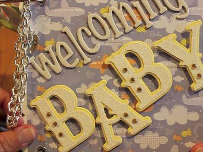 Baby Shower Scrapbooking Mini Album