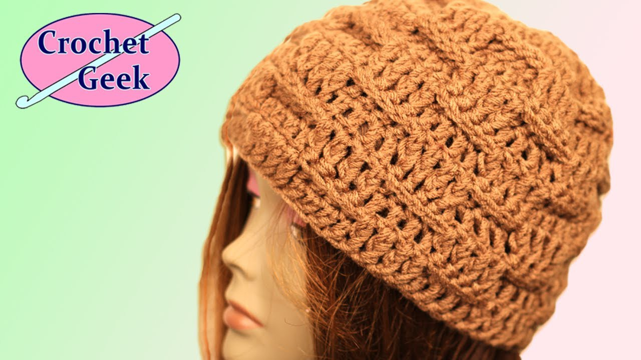 Basketweave Crochet Hat - Crochet Geek
