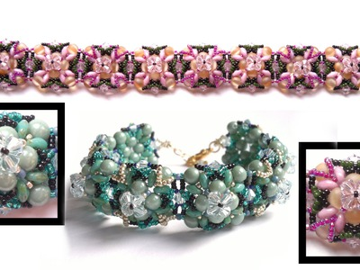 "Beading4perfectionists: ""Be Mine for Valentine"" bracelet with RounDuo beads beading tutorial"