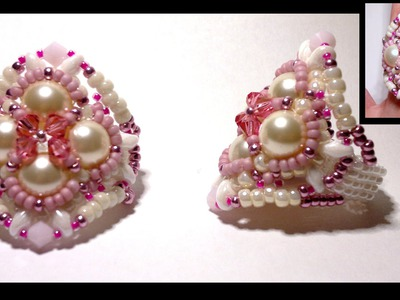 "Beading4perfectionists ""Bikerchick Valentines ring"" beading tutorial"