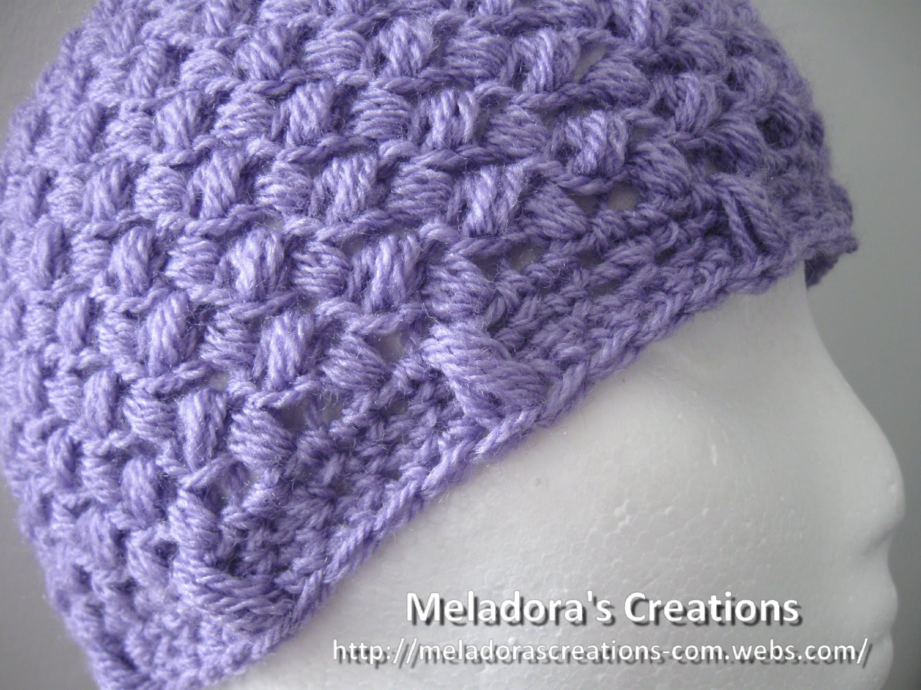 Bean Stitch Beanie - Crochet Tutorial - Baby - Adult sizes