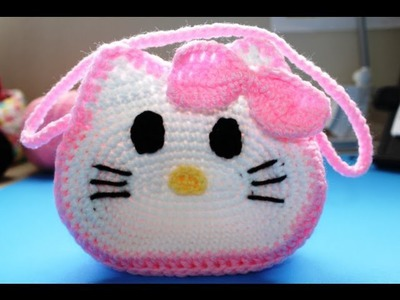 "Bolista en crochet inspirada por ""Hello Kitty"" (Subtitles in English) Parte 1. Part 1"
