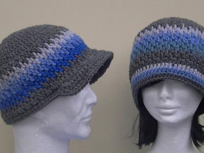 Brick Stitch Hat Crochet Tutorial