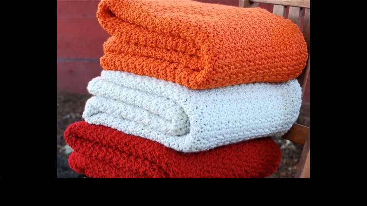 Chevron crochet blanket for beginners