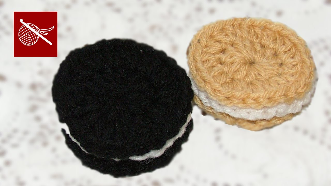 Chocolate or Vanilla Crochet Oreo Cookie Crochet Geek