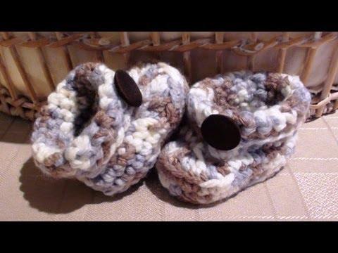 Chunky Crochet Boy Baby Booties