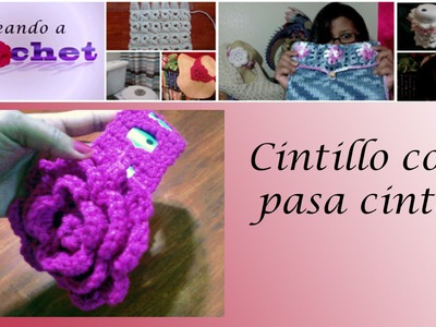 Cintillo con pasa cinta - Tutorial de tejido crochet