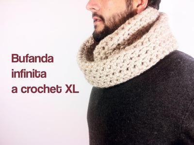 Cómo tejer una bufanda infinita a ganchillo. crochet
